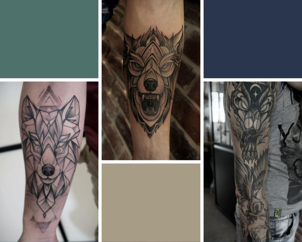 tatouage loup