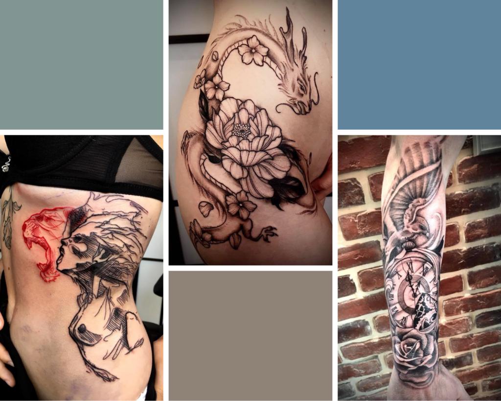 tatouage grande pièce